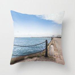 Dun Laoghaire pier Throw Pillow