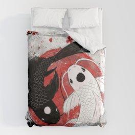 Koi fish - Yin Yang Bettbezug