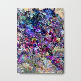 Creature Among the Flowers Metal Print