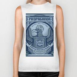 Rubino Blue Propaganda Biker Tank