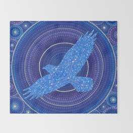 Aquila- the Eagle Constellation Throw Blanket