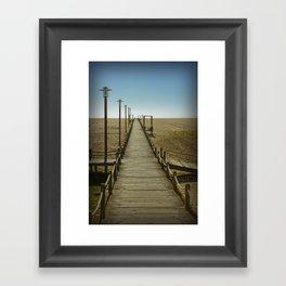 MY WAY TO THE SEA Framed Art Print