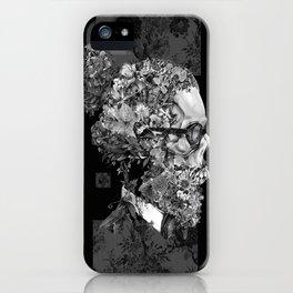 hipster floral skull 2 iPhone Case