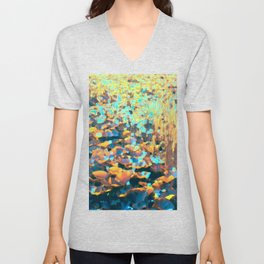 Colorful Lily Pads And River Grass Unisex V-Neck