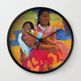 Paul Gauguin - Nafea Faaipoipo (When Are You Getting Married ). Wall Clock