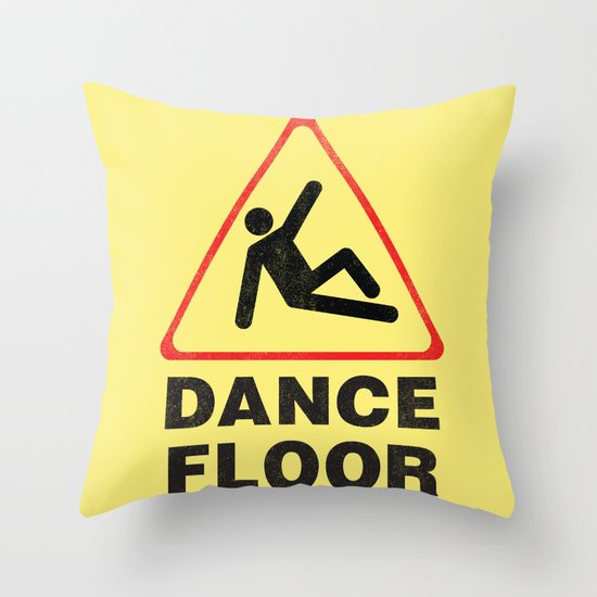 Cuation: breakdancing Throw Pillow