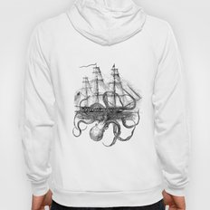 Octopus Kraken attacking Ship Antique Almanac Paper Hoody