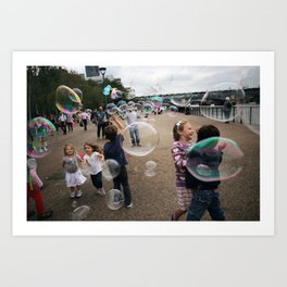 bubbles at the tate Art Print