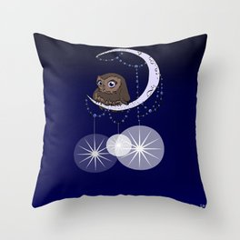 """I'd Open Up the Moon for You"" Throw Pillow"