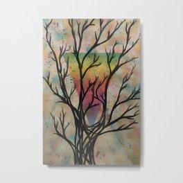 Colors through the trees Metal Print