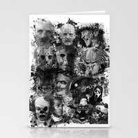 horror Stationery Cards featuring Horror by Sinister Star