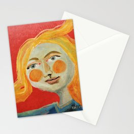 Yellow hair Stationery Cards