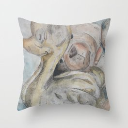 duck and bear Throw Pillow