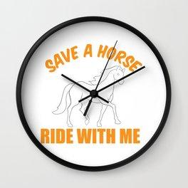 Barrel Racer Funny Horseback Riding Ride Gift Wall Clock