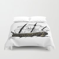 ship Duvet Covers featuring Ship by Bonnie & Caprice