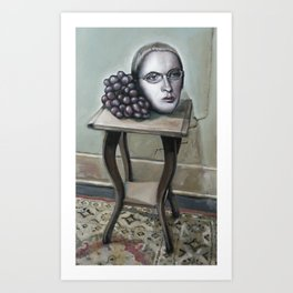Still Life with M&M and Grapes Art Print