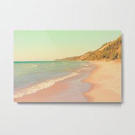 Pastel Beach Bliss Metal Print