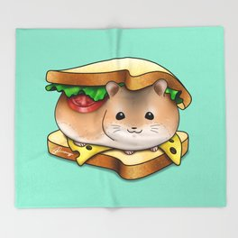 HamHam Sandwich Throw Blanket