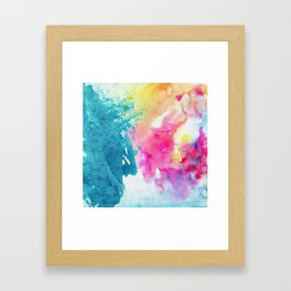 Watercolor Splashes Framed Art Print