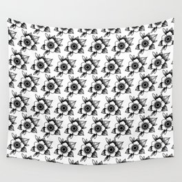 trad flower Wall Tapestry
