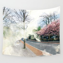 Pink Corner Wall Tapestry