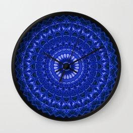 Dark blue mandala Wall Clock