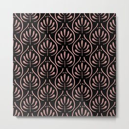 Bohemian Pattern Black Metal Print
