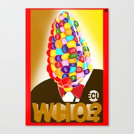 who?(variant3) Canvas Print
