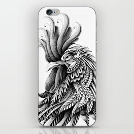 Ornately Decorated Rooster iPhone Skin