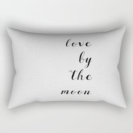 Love By The Moon Rectangular Pillow