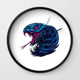 King Cobra Snake Wild Beast Illustration Wall Clock