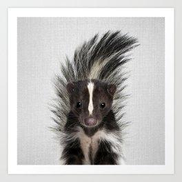 Skunk - Colorful Art Print