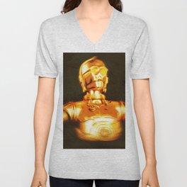 C3PO Pop Art Unisex V-Neck