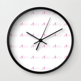 Amen 1 Wall Clock