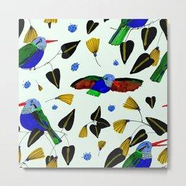 Humming Birds Metal Print