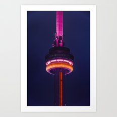 CN Tower at Night - Toronto Art Print