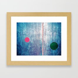 Metallic Face (Blue Version) Framed Art Print