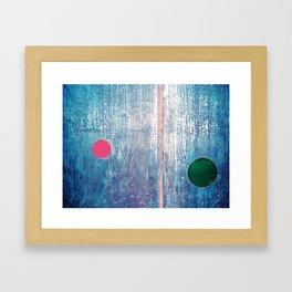 Metallic Face (Blue Version) Framed Art Print
