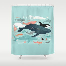 Under the Sea Menagerie Shower Curtain