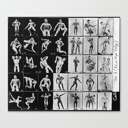 The Posedown Vintage Contact Sheet Canvas Print