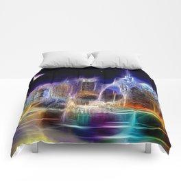 Starry Night New York City Comforters