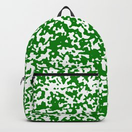 Small Spots - White and Green Backpack