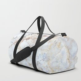 Rich Gold and Blue Marble Duffle Bag