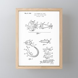 Cardiac Pacer Electrode System Vintage Patent Hand Drawing Framed Mini Art Print
