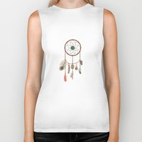 dream catcher Biker Tanks featuring Dream catcher by elyinspira