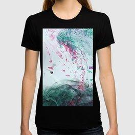Raspberry Ocean Ink Fluid T-shirt