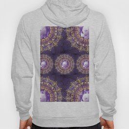 Decorative Background with Round Amethyst Hoody
