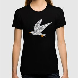 seagull above the waves T-shirt