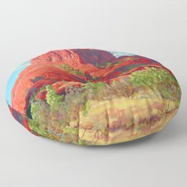Big Bell Rock Sedona by Amanda Martinson Floor Pillow