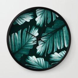 Tropical Banana Leaves Dream #2 #foliage #decor #art #society6 Wall Clock